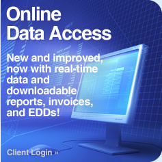 Online Data Access | New and Improved, now with real-time data, and downloadable reports, invoices, and EDDs!