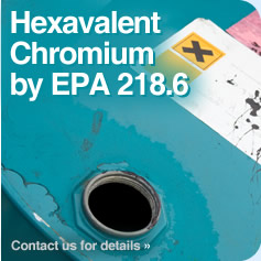 Hexavalent Chromium by EPA 218.6 (Low Level)